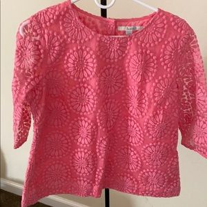Boden embroidered lace top size 8